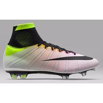 Chuteira Nike Mercurial Superfly Fg - White/volt/total