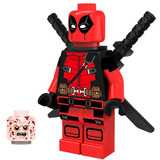 Genial Figura Sw14 Deadpool Movie Marvel Compatible Con Lego