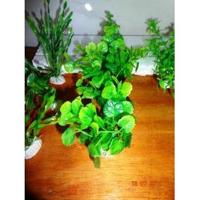 Plantas Artificiais 10cm Bca E Verde C Base Pacote Com 12 !