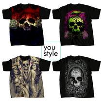 Camisetas Camisa Caveiras Caveira Sublimação Full Print