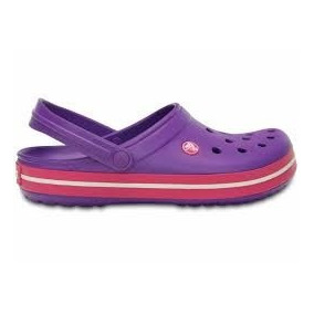 Crocband Neon Purple Candy Pink