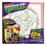 Tortugas Ninja Playset Escenario Pop Up Pizza Nenes Educando