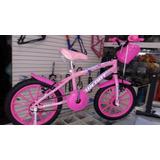 Bicicleta Aro 16 Infantil Para Crianças De 5/6 Anos Feminina
