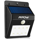 Mpow 8bombillas Led Lámparas Solares De Pared Para Exterior,