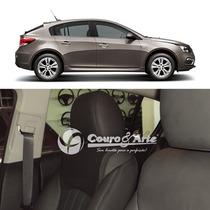 Revestimento 70% Couro Para Bancos Chevrolet Cruze Hatch