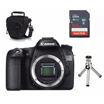 Câmera Canon 70d Corpo + Capa,tripe,sd 64gb Nfe