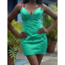 Para Este Diciembre Vestido Exclusivo Hecho En Seda Verde