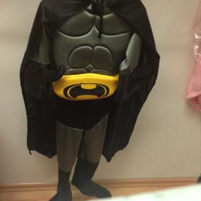 Disfráz Infantil Batman En Color Gris O Negro