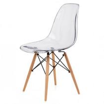 Silla Eames Transparente. Diseño. Comedor.