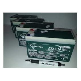 Kit 04 Baterias Gel Global 12v 10ah Ciclo Profundo 6-dzm-10.