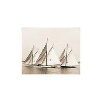 Nautical Majestic Ship Trio Photographic Print On Wrapped