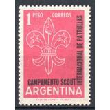 Argentina 1961 Gj 1204** Me 633 Mint Campamento Scout Int.