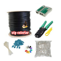 Kit Cable Red Utp Cat5e 305mts Exterior Doble Forro Antiagua