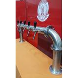 Pilon Arco Bridado Para 5 Canillas Cerveza Tirada