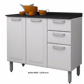 Balcão Cozinha Luce Ig3g2 3 Portas Itatiaia Aço || Apenas Rj