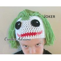 Gorro Joker Crochet Tejido