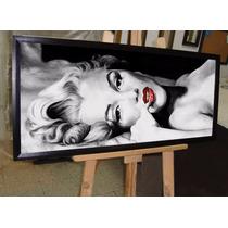Marilyn Monroe Cuadro 100 Cm X 50 Cm Vidrio De 3mm
