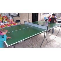 Mesa Ping Pong Plegables Con Ruedas Medida Profesional Usada