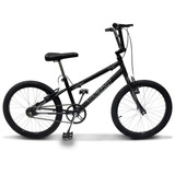 Bicicleta Cross Bmx Ultra Aro 20 V-brake Preto Fosco
