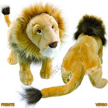 Bicho De Pelúcia Leão Selvagem Da Floresta Grande 60 Cm