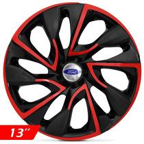 Calota Aro 13 Red Esportiva Ds4 Ford Ka Fiesta Focus Escort