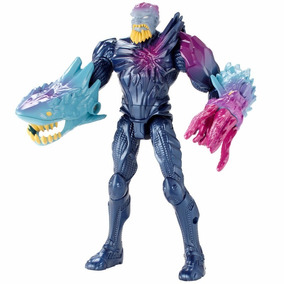 Boneco Max Steel Extroyer Mutante Maritimo Mattel