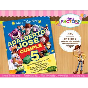 Toy Story - Invitaciones Digitales Imprimibles Y Whatsapp