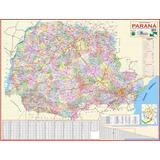Mapa Político E Rodoviário Estado Do Paraná - Frete Grátis