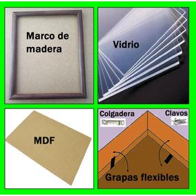 10 Marcos Madera, Fotografía: 8x10, 20x25cm. Todo Incluido