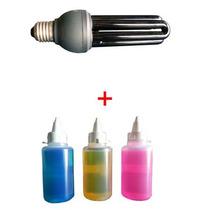 Lâmpada Negra Efeito Neon + Tinta Invisível (100ml)