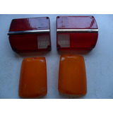 Lote 4 Plasticos Farol Ford Falcon 1981 1978 Sin Uso Antiguo
