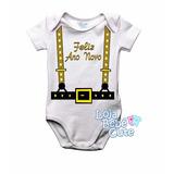 Body Reveillon Feliz Ano Novo Menino Bebê Camiseta Infantil