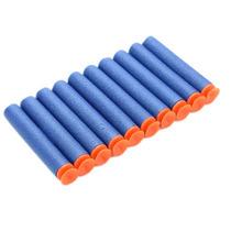 Kit 10 Nerf Com Ventosa Refil Munição Arma De Brinquedo Azul