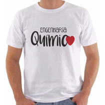Camiseta Curso Engenharia Química Masculinas Universitário