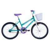 Bicicleta Aro 20 Juvenil Cindy Track Feminina Verde Roxo