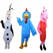 Fantasias Olaf ,peppa,galinha Pintadinha Mascote,3 Fantasias