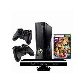 Xbox 360 250gb C/ Kinect + 2 Controle S/ Fio + 2 Jogos Origi
