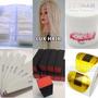 Tips Sorriso Natural Boneca Sintética Gel Pink 50 Lixa Bloco