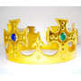 Coroa Rei Rainha Festa Fantasia Infantil Menor Preço