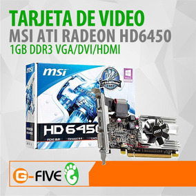 Tarjeta De Video Msi Radeon Hd 6450 1gb Ddr3 Lp