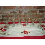6 Vasos De Vidrio Hecho Con Botella De Smirnoff. Copas.
