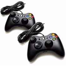 Kit 2 Controle Xbox 360 Computador Pc Com Fio Joystick Feir