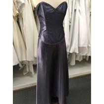Vestido De 15 Años Corset Y Falda Tornasol Lila Azul