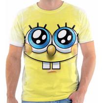 Camiseta Camisa Rosto Bob Esponja, Masculina E Feminina 04