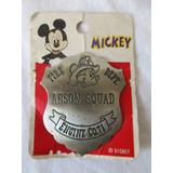 Placa Insignia Mickey Mouse Bombero Escuadrón