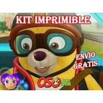 Kit Imprimible Oso Agente - Invitaciones Y Mas -envio Gratis