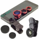 Kit Lentes 3x1 Fisheye Macro Wide P Iphone 4 5 Galaxy Tablet