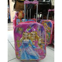 Mochila Com Rodinhas Barbie 3d Infantil Escolar Menina Linda
