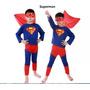 Fantasia Infantil Crianças Homem-aranha /super Man / Batman