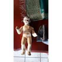 Antiguo Niño Dios Tallado En Madera ! Grande !